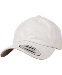 FlexFit Cap Peached Cotton Twill Dad Hellgrau, ajustable