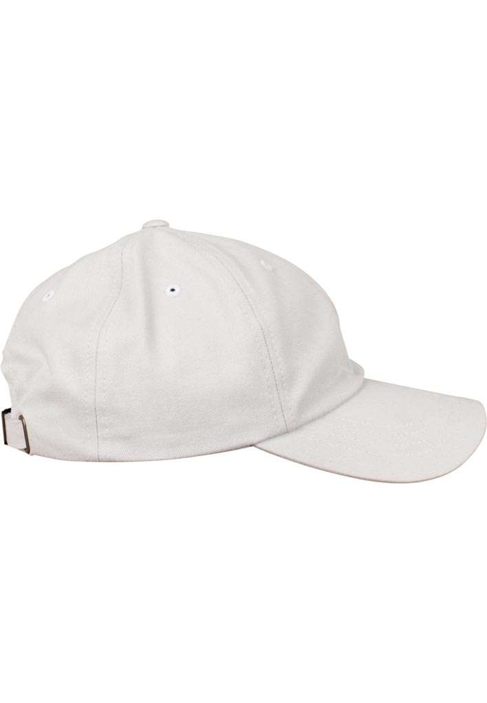 FlexFit Cap Peached Cotton Twill Dad Hellgrau, ajustable Seitenansicht rechts