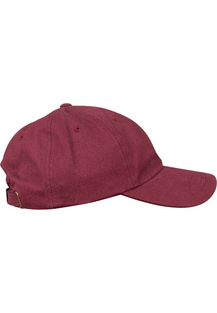 FlexFit Cap Peached Cotton Twill Dad Maroon, ajustable Seitenansicht rechts