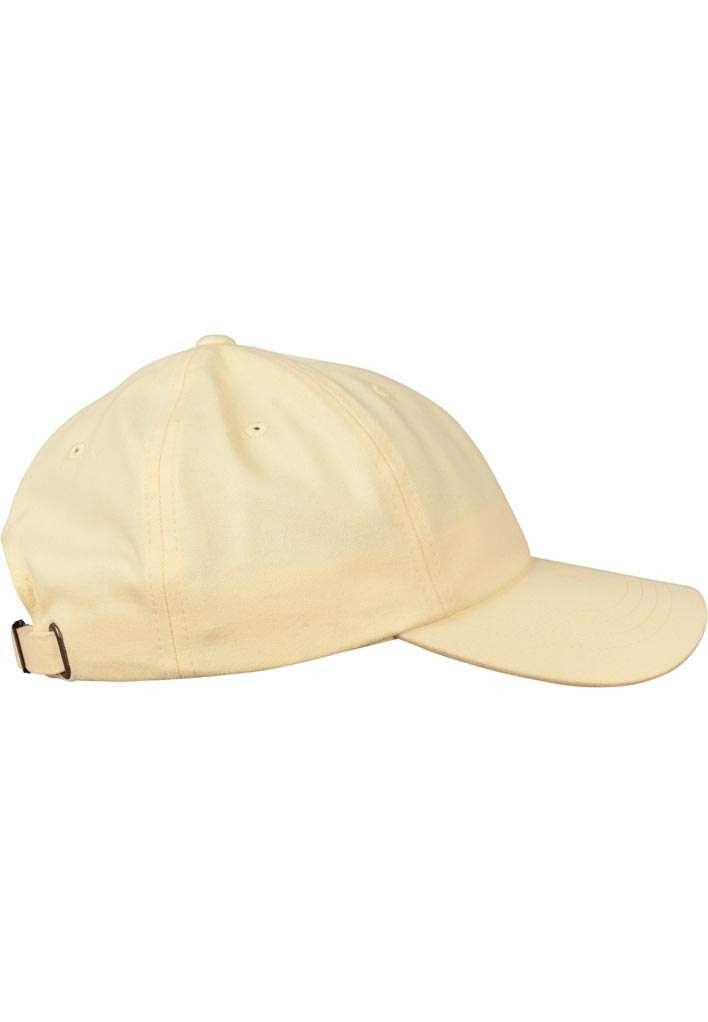 FlexFit Cap Peached Cotton Twill Dad Gelb, ajustable Seitenansicht rechts