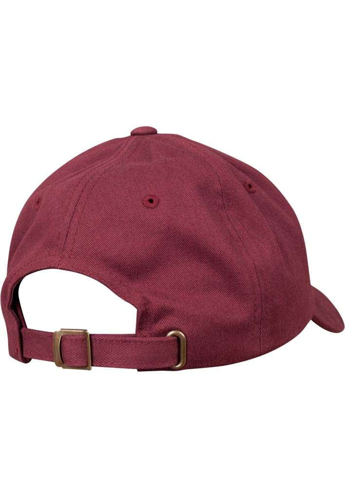 FlexFit Cap Peached Cotton Twill Dad Maroon, ajustable Seitenansicht hinten