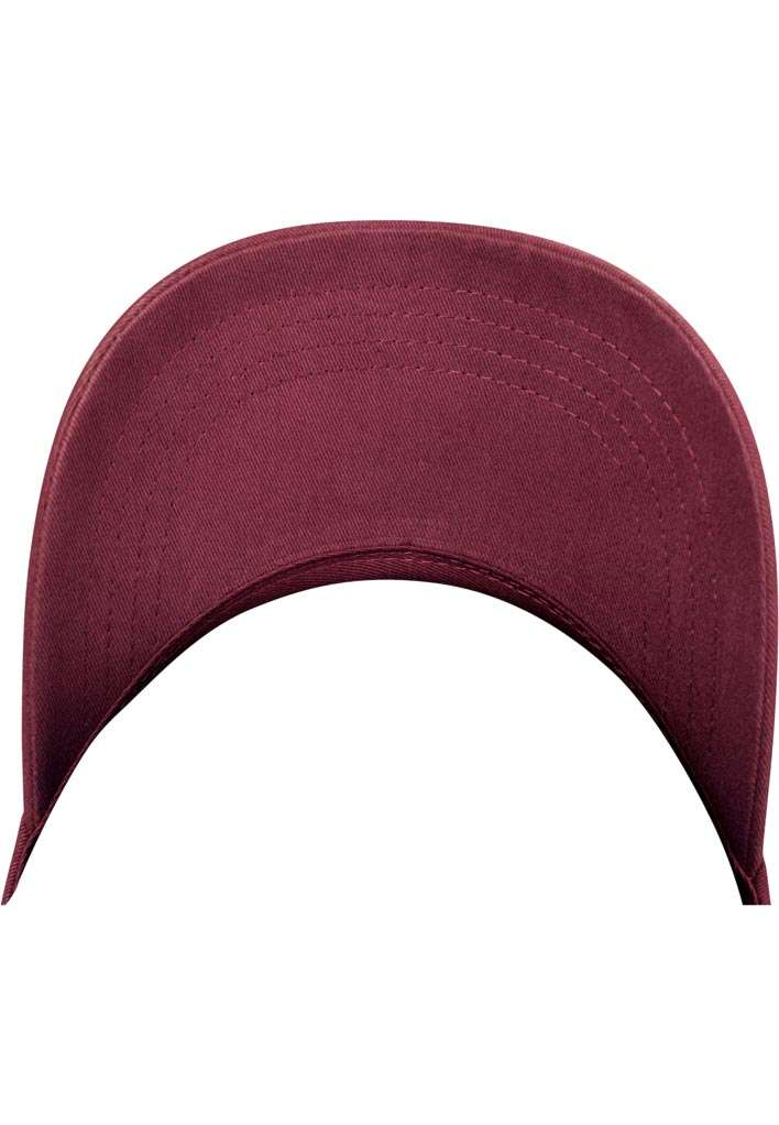 FlexFit Cap Peached Cotton Twill Dad Maroon, ajustable Ansicht Schild