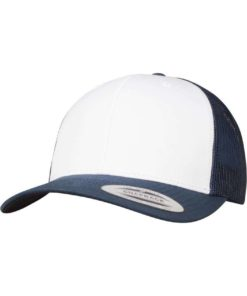 Retro Trucker Cap Colored Front Marieneblau/Weiß/Marieneblau, ajustable