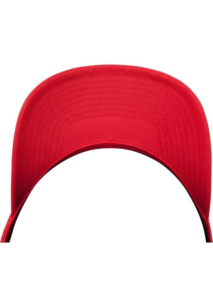 Retro Trucker Cap Colored Front Rot/Weiß/Rot, ajustable Seitenansicht Schild