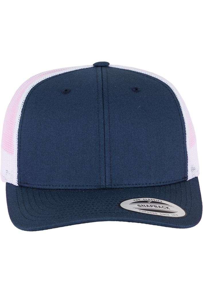 Trucker Cap Mesh Marineblau/Marineblau/Weiß, ajustable Ansicht vorne