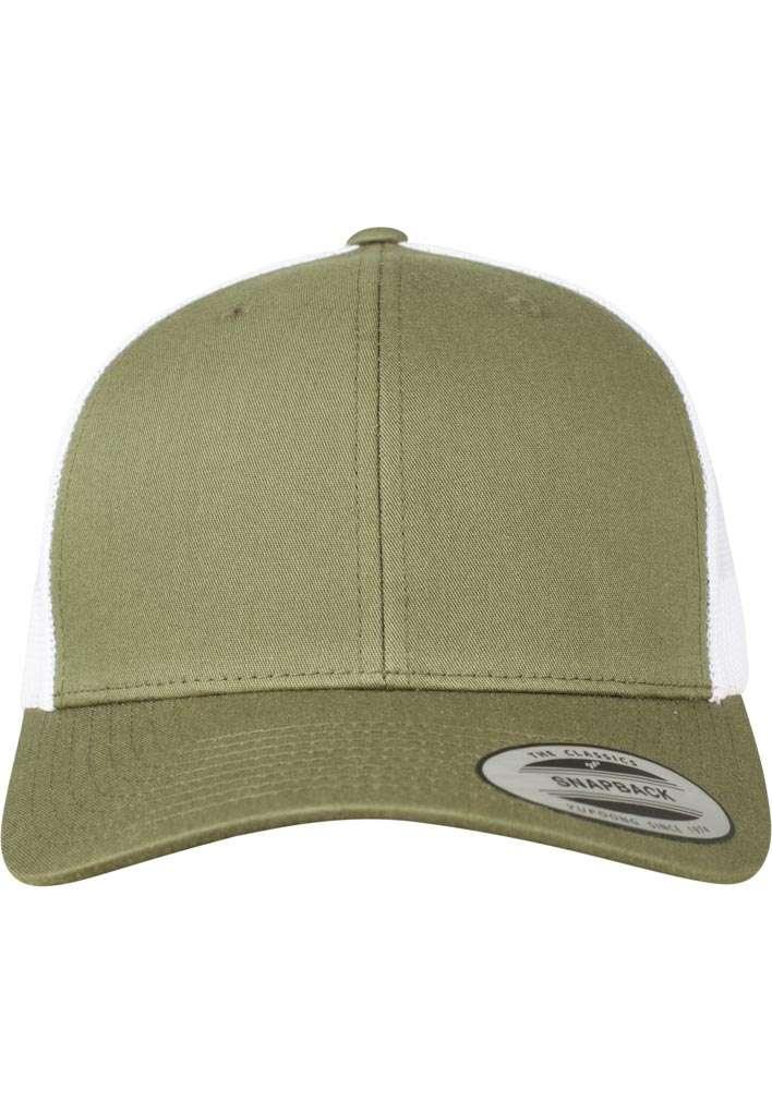 Trucker Cap Mesh Olive/Olive/Weiß, ajustable Ansicht vorne