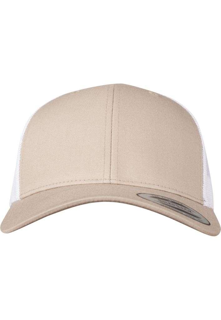 Trucker Cap Mesh Khaki/Khaki/Weiß, ajustable Ansicht vorne