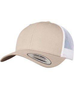 Trucker Cap Mesh Khaki/Khaki/Weiß, ajustable