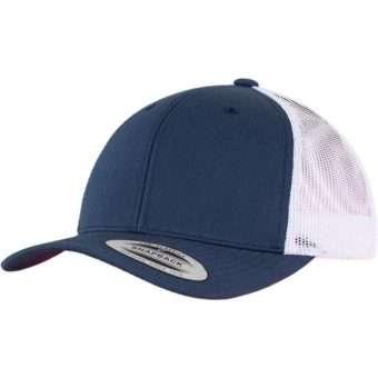 Trucker Cap Mesh Marineblau/Marineblau/Weiß, ajustable