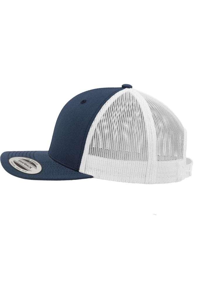 Trucker Cap Mesh Marineblau/Marineblau/Weiß, ajustable Seitenansicht links