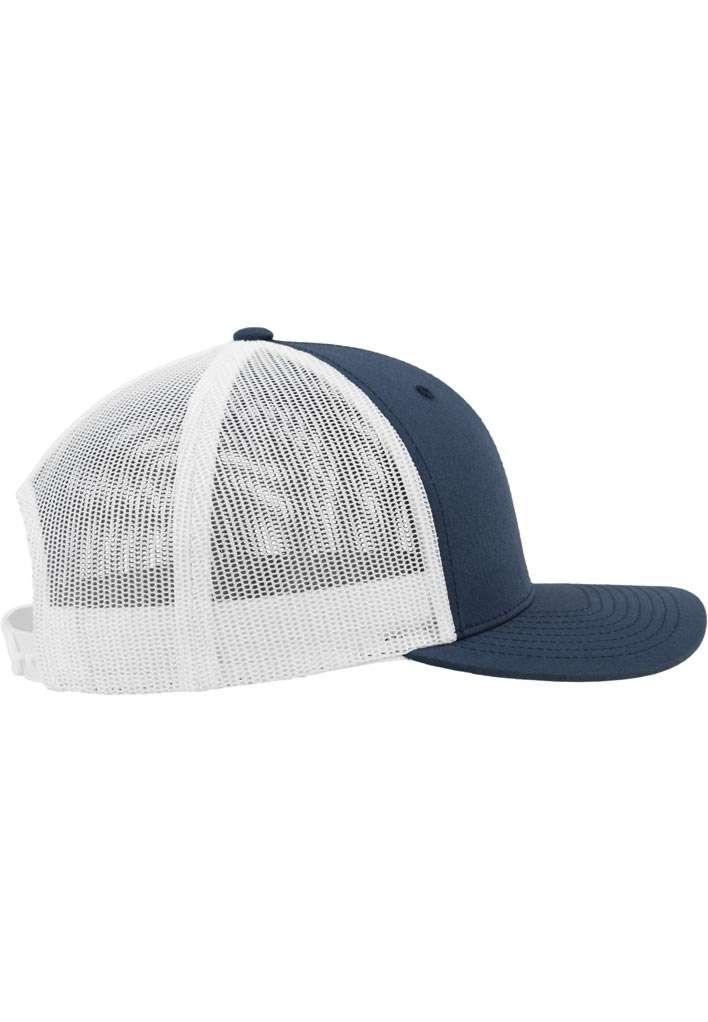 Trucker Cap Mesh Marineblau/Marineblau/Weiß, ajustable Seitenansicht rechts