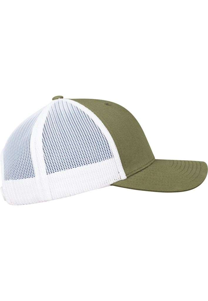 Trucker Cap Mesh Olive/Olive/Weiß, ajustable Seitenansicht rechts