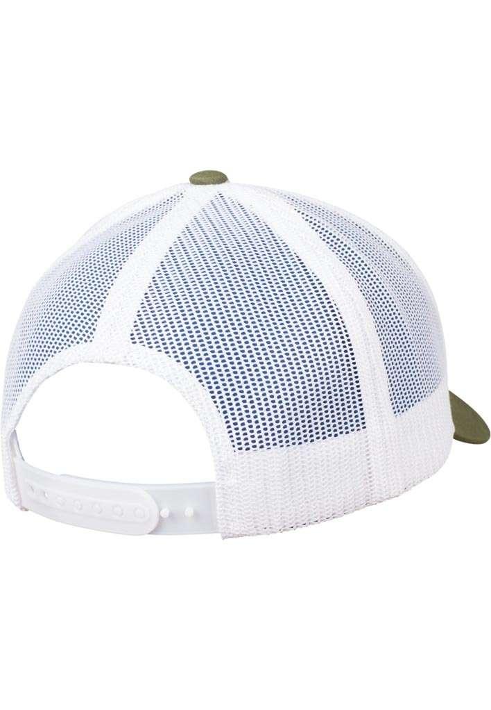 Trucker Cap Mesh Olive/Olive/Weiß, ajustable Seitenansicht hinten
