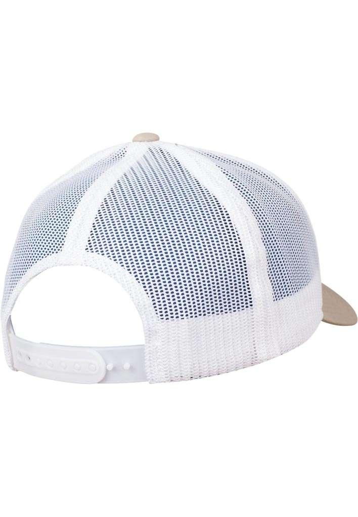 Trucker Cap Mesh Khaki/Khaki/Weiß, ajustable Seitenansicht hinten