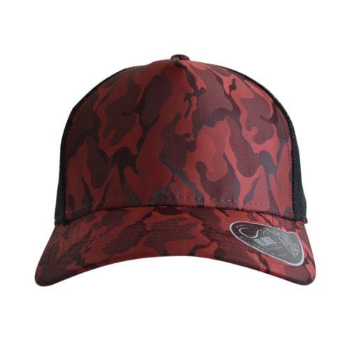 atlantis-rapper-camou-trucker-cap-burgundy-black-verstellbar-front