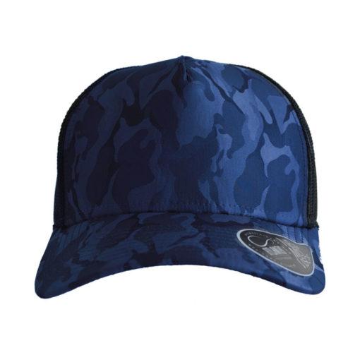 atlantis-rapper-camou-trucker-cap-royal-black-verstellbar-front