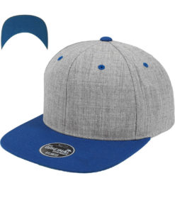 standard-snapback-cap-classic-graumeliert-royalblau-6-panel-verstellbar