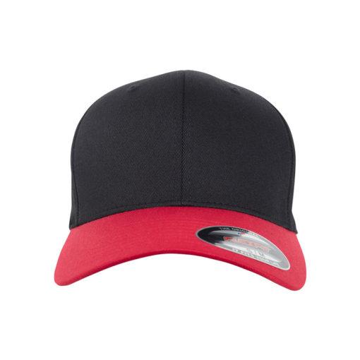 Flexfit Cap schwarz rot