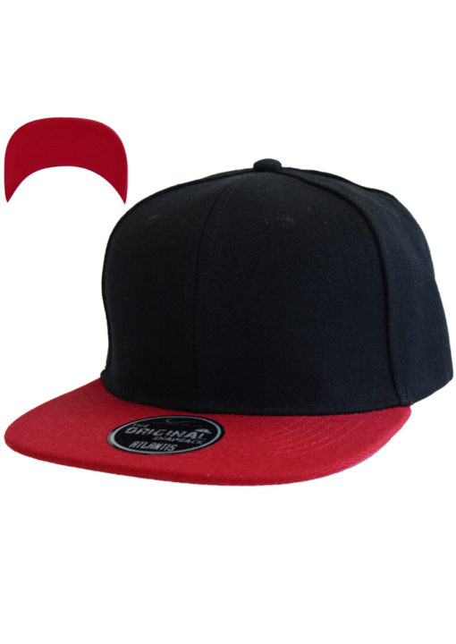 atlantis-cap-snap-back-cap-nero-rosso-verstellbar