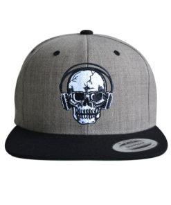 cap-skull-dj-grau-schwarz